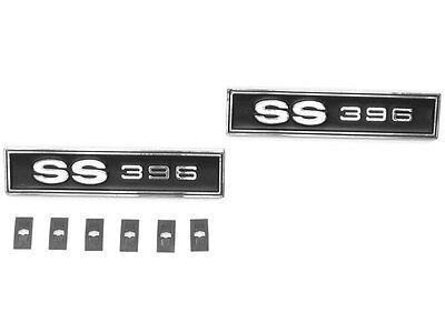 1969 Chevelle SS396 Door Panel Emblems Super Sport Chevelle J-3555 (IN STOCK) ()