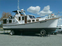 trawler 43 pied house boat
