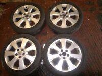"Vauxhall Vectra C Elite 17"" Alloy wheels and tyres Sri 2002-2009 5 x 110 7j Astra Corsa 225/45 Rims"