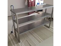 Stainless steel catering surface