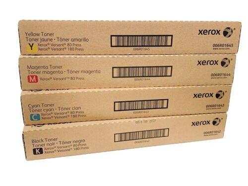 XEROX Versant 80 180 CMYK TONER SET 6R1642 6R1643 6R1644 6R1645