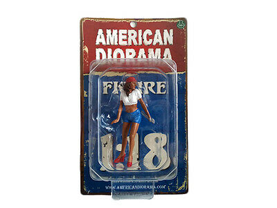 "LADY MECHANIC KATIE AMERICAN DIORAMA 1:18 Scale Figurine 3.5"" Female Figure"