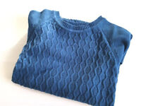 Men's Forever21 Navy cable-knitted Jumper, Size S