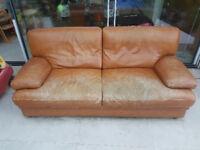 ** FREE! ** Super-comfy leather sofa