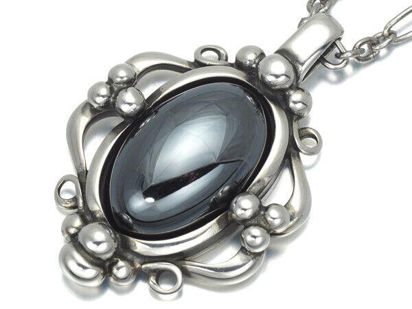 Georg Jensen Necklace Pendant 1989-2009 Sterling Silver Denmark Jewelry #13623