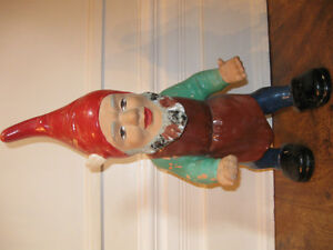 West German Antique Gnome RARE 21 inch Early 1900's