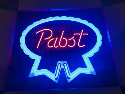 "New Pabst Blue Ribbon Neon Light Sign 24""x20"" Lamp Poster Beer Bar  for sale  USA"