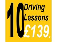 10 for £139* DRIVING SCHOOL LESSONS with INSTRUCTOR