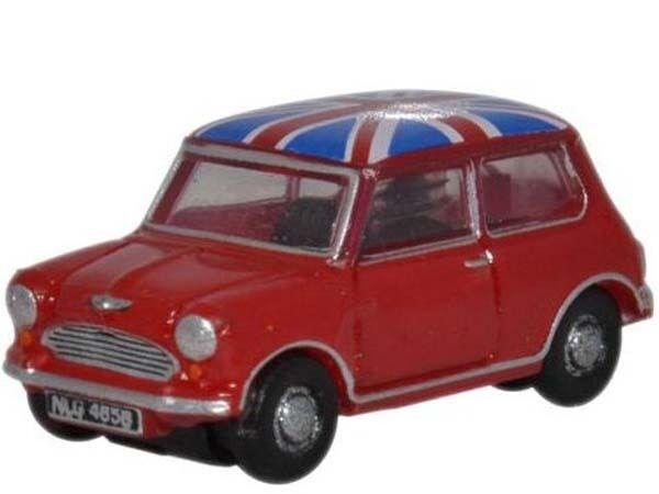 Oxford NMN001 - Tartan Red/Union Jack Austin Mini - Spur N - NEU