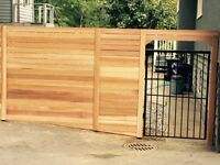 Cedar fence panel installation call today