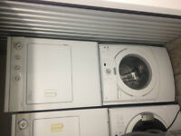 4yr old Stackable washer(electric)Dryer(Gas) Maytag/Kenmore 27'