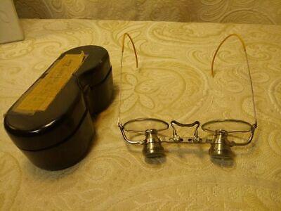 Super rare 1920's Carl zeiss jena 2x magnifying Doctor's glasses (Doc Glasses)