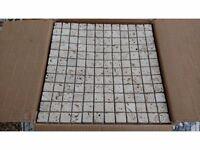 17 Travertine Mosaic Tiles £45