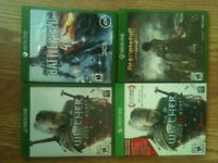 Witcher 3,  Battlefeild 4, deadrising 3