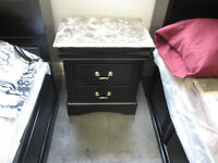 NEW FUAX MARBLE TOPPED NIGHT STAND WAS 399 NOW 100