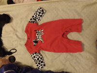0-3 month long sleeve footless bodysuit