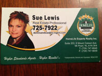 Buying or selling a home,  please contact Sue Lewis