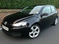 VW Golf 1.6TDI, Black, Excellent Condition, 70k Miles, MOT & Tax