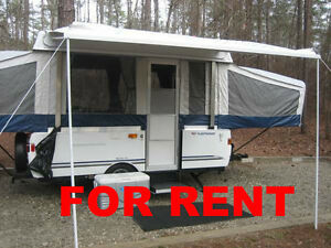FOR RENT 2007 COLEMAN TENT TRAILER 10 FT.BOX OPENS TO 22 FT LONG
