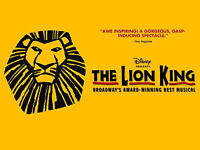 2 LION KING TICKETS - FIRST ROW - 400