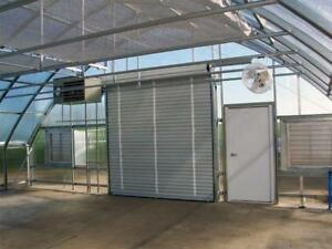 Great Deal on Green house Doors 6 x 7 Roll-up