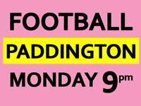 Friendly 8 a side football game every Monday next to Paddington needs players
