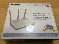 D-Link Wireless AC1900 Dual Band Gigabit Cloud Router As New Boxed