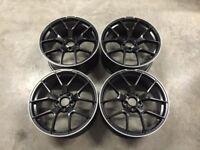 19″ C63 AMG 507 Style Wheels – Satin Black / Machined Lip – VW / Audi / Mercedes – 5×112