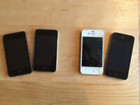 IPhones 4, 4s, IPods Touch 8GB