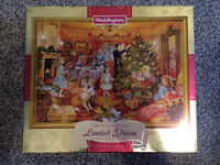"Waddingtons Limited Edition Double Sided Puzzle ""Nearly Christmas"" 1000pcs"