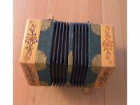 20 Button Wooden Concertina