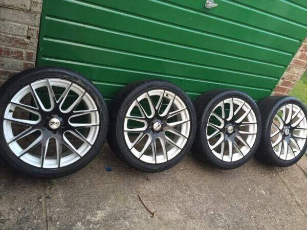 22 Inch Zito Alloy Wheels Rims With Tyres Bmw X5 X6 Range