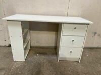Habitat Malibu 3 Drawer Office Desk - White No110809