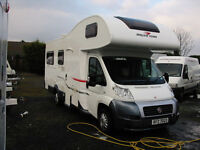 6-BERTH MOTORHOME WITH LARGE REAR LOUNGE