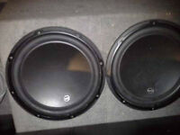 2x JL audio W3 12inch subwoofers built in sub box