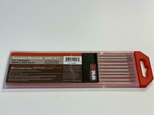 """2% Thoriated TIG Welding Tungsten Electrodes 3/32"""" (Red,WT20) Free Quick-Ship"""