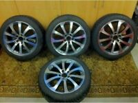 Audi alloys in mint condition new tyres fits vw seat skoda