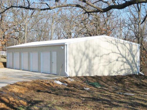 Steel Metal 5-Car Garage + Shop, Building Kit