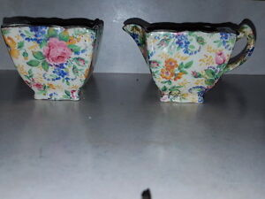 CREAM & SUGAR BOWLS..ROSALYNDE by Kent, James (England) Vancouver Greater Vancouver Area image 1