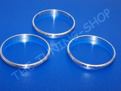 Chrome Rings For Alfa Romeo 159 Alloy Trim Surrounds For Auxiliary Gauges 3pcs