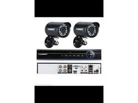 4 camera HD CCTV system - 750gb hdd - brand new