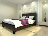 **BRAND NEW SINGLE DOUBLE AND KINGSIZE LEATHER BED**