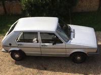 Rare GOLF MK1 GX 1.5 Petrol 1984 1 Former Keepers Full Service History 12 Months MoT 2 Family Owners