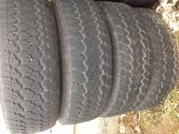 4 Goodyear tires on rims