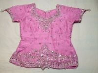 pink Indian bridal lengha