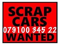 07910034522 WANTED CAR VAN FOR CASH BUY YOUR SCRAP SELL MY SCRAPPING E