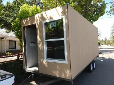 Tiny House On Trailer Wheels Metal Shipping Container Steel Mobile Home Office