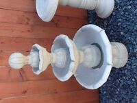 4 tier concrete fountain new
