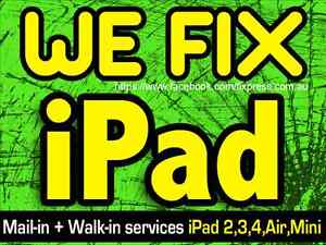 Apple iPad 2 3 4 Mini Air Screen Repair  i pad screen fix Perth Perth City Area Preview