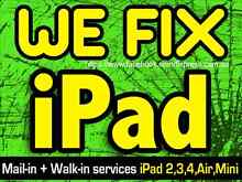 Apple iPad 2 3 4 Mini Air Screen Repair  i pad screen fix Perth CBD Perth City Preview
